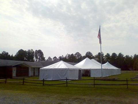 There is plenty of room to add an outdoor dining or meeting tent