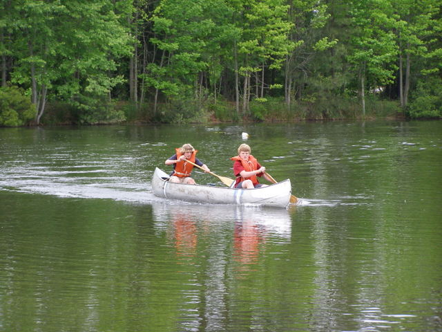 Canoe on Pond