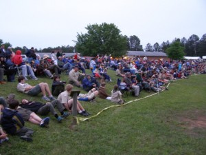 Boy Scouts join together for a Chapel Hill Camporee