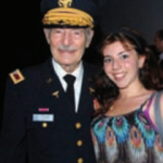 Colonel Strauss and his granddaughter, Jemma