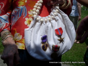 Mrs. Strauss proudly displayed the colonel's medals on Memorial Day
