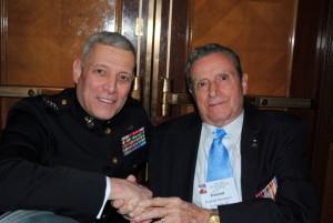 Bud Hampton with ACMC General John M. Paxton, Jr.