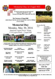 Memorial Day Flyer 2016